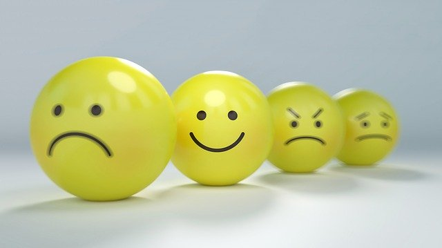 Four yellow balls with smiling, frowning, angry and sad faces. Christian counseling in Hillsboro, OR and Clackamas, OR can help you heal. If you are suffering from anxiety or depression, get help with your emotions with Christian therapy with a christian counselor. Get online therapy in Oregon here.