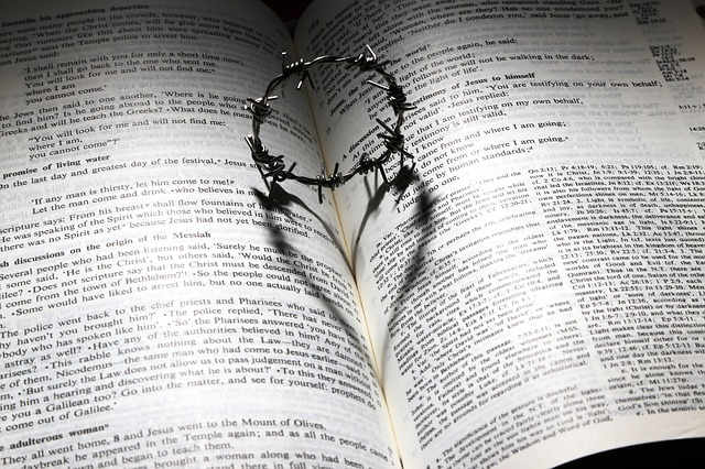 A crown of thorns on an open bible that makes a shadow of a heart. The purpose of lament is to be felt by God while stressed or in distress. You can get support from a christian counselor in Hillsboro, OR here.